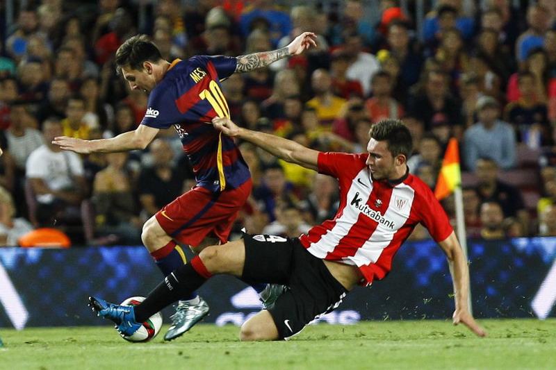 Laporte ogah gabung Barcelona. (Foto: AFP/Quique Garcia)