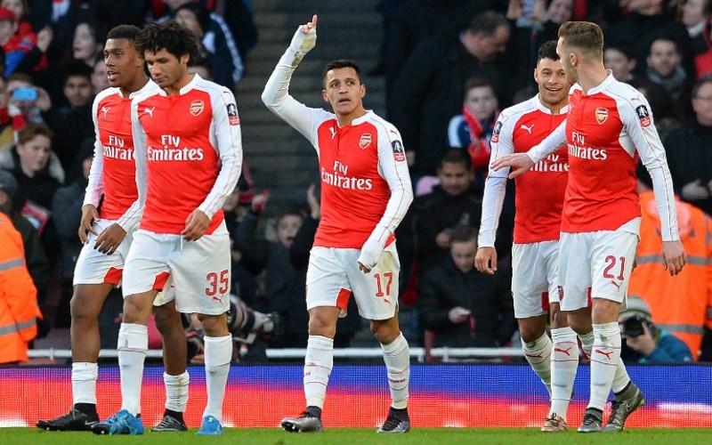 Para pemain Arsenal (Foto: Glyn Kirk/AFP)