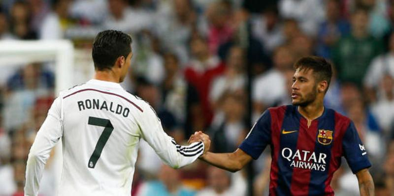 Neymar Jr dan Cristiano Ronaldo. (Foto:AFP)