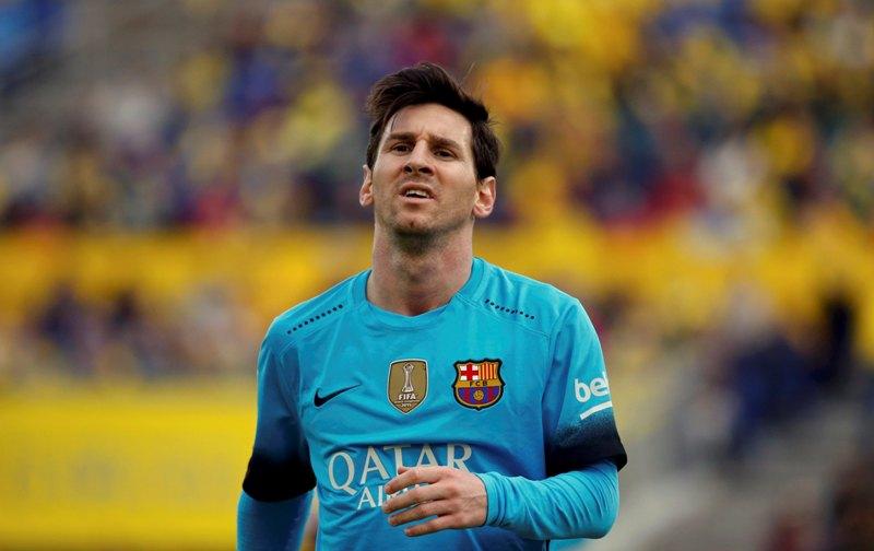 Messi tidak akan meninggalkan Barca. (Foto:Reuters/Juan Media)