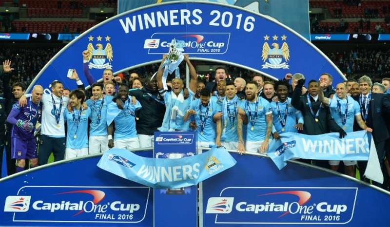 Manchester City, kampiun Capital One Cup 2015-2016 (Foto: AFP)