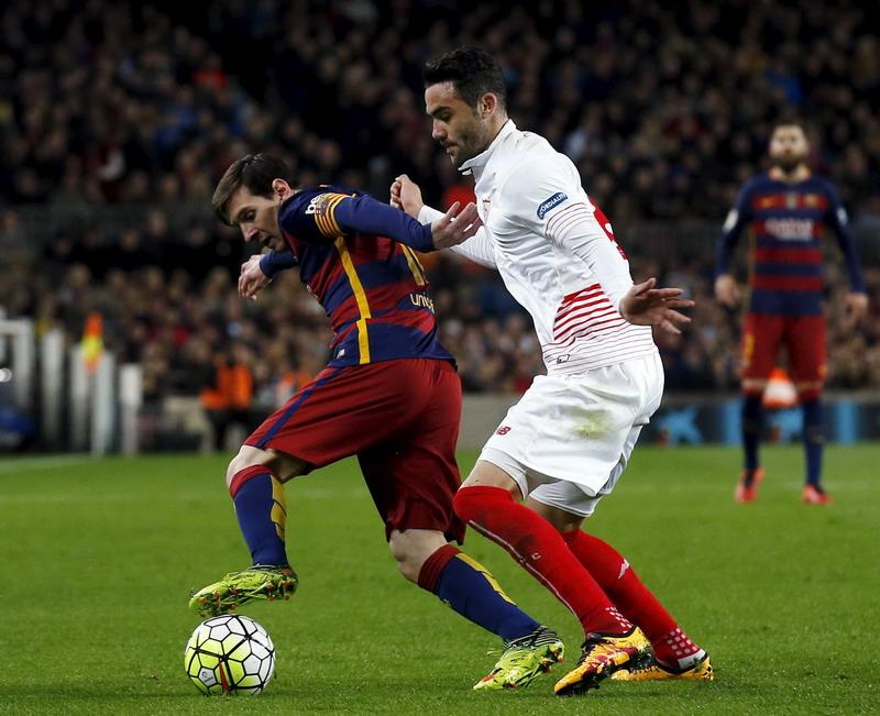 Sevilla klub terbaik yang pernah menyambangi Camp Nou. (Foto: REUTERS/Albert Gea)