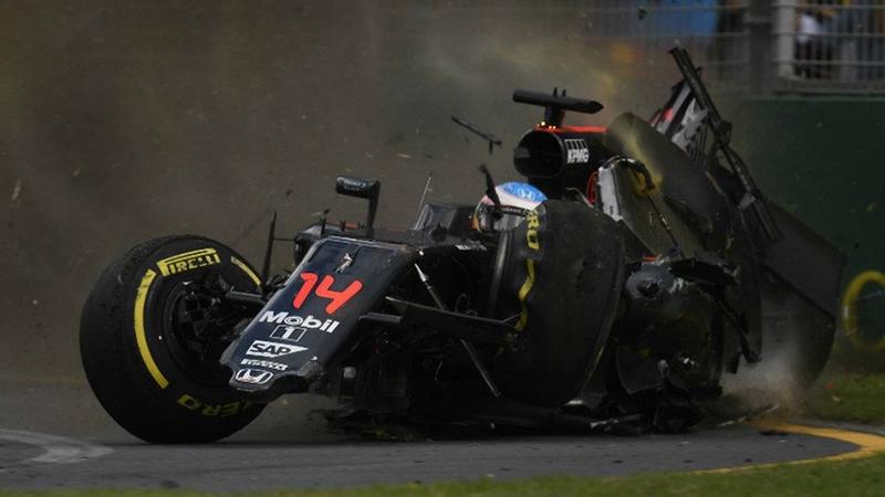Insiden Alonso (Foto: Twitter resmi F1)