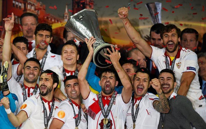 Para pemain Sevilla (Foto: REUTERS)