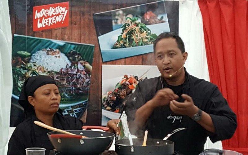 Indonesian Weekend, Chef Degan Ajak Turis Dunia Masak Makanan Nusantara