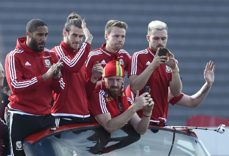Timnas Wales (Foto: Reuters/Adam Holt)