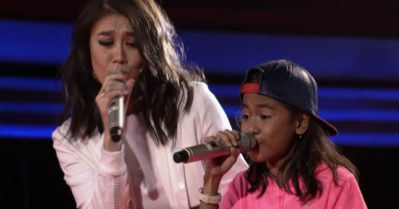 Coach Agnez dan Angela (Foto: The Voice Kids Indonesia)