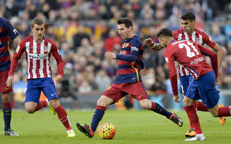 Barcelona vs Atletico Madrid (Foto: AFP)