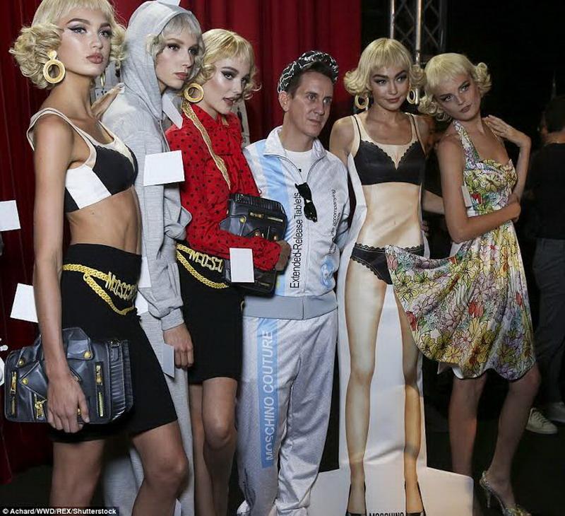 Gigi dan Bella Hadid Tampil Bak Boneka di Fashion Show Moschino Milan Fashion Week