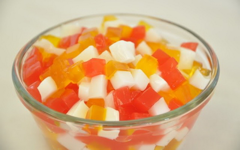 Segarnya Es Bubble Jelly Fruity Rainbow