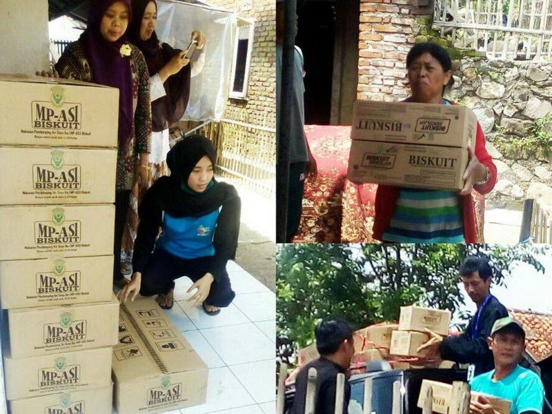 Kemenkes Salurkan PMT untuk Pengungsi Banjir Bandang di Garut