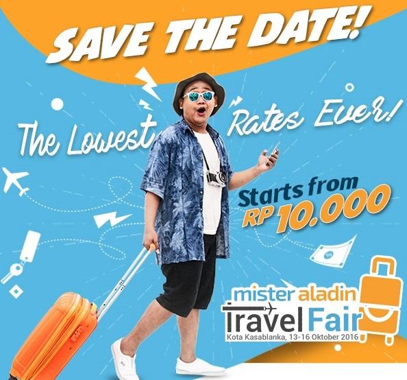 Mister Aladin Travel Fair: Menginap dan Terbang ke Destinasi Impian Mulai Rp10.000!