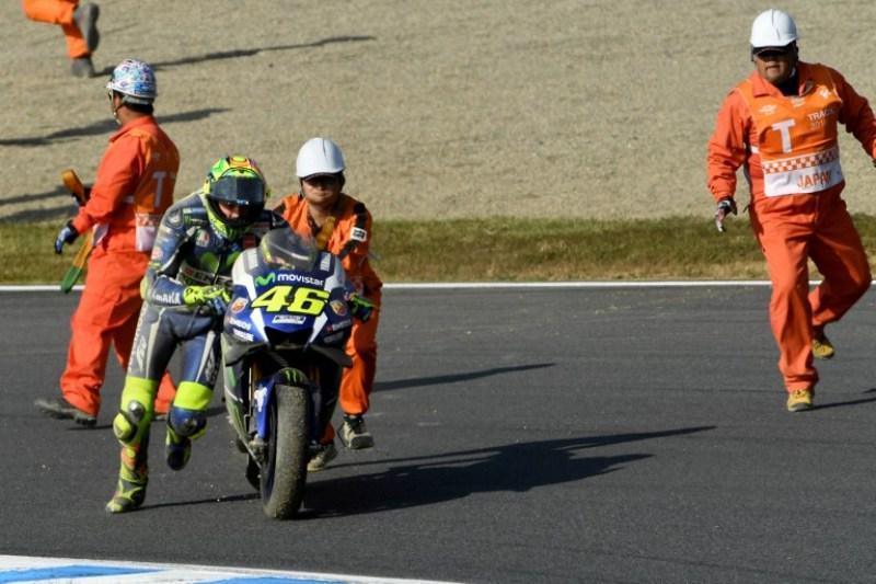 Rossi sebut Yamaha tidak berkembang. (Foto:AFP)