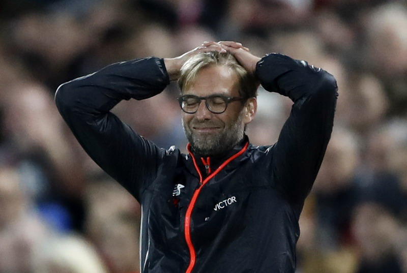 Klopp kecewa Liverpool ditahan Man United. (Foto: REUTERS/Carl Recine)
