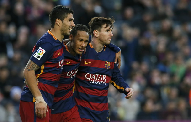 Guardiola tak pernah hubungi trio MSN. (Foto: REUTERS/Albert Gea)