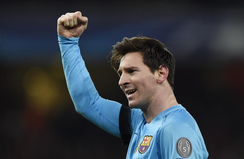 Messi mungkin hengkang ke klub Inggris. (Foto: REUTERS/Toby Melville)