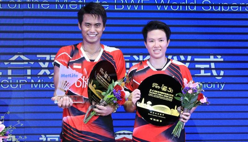 Tontowi Ahmad/Liliyana Natsir Juara China Open 2016 (Foto: Situs resmi PBSI)