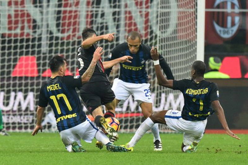 Bonaventura kesal Milan gagal menang. (Foto: AFP/Giusepep Cacace)