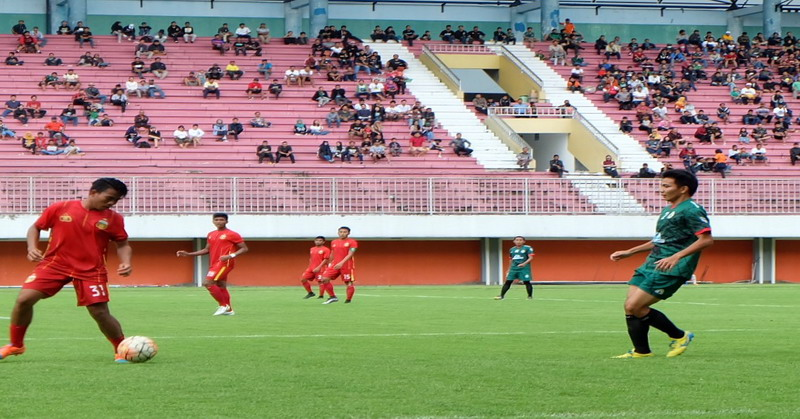 PSS Sleman saat uji coba lawan Bhayangkara FC (KRjogja)