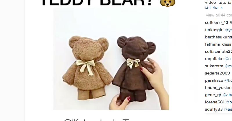 Buatkan Boneka Teddy Bear untuk Anak dengan Handuk