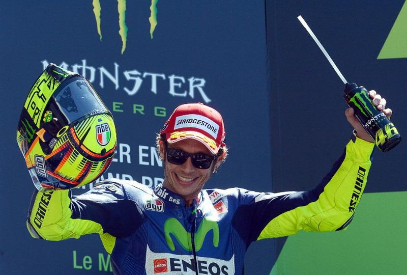 Rossi dibantu duo Ducati. (Foto: AFP)
