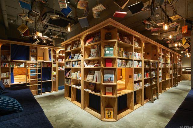 Sensasi Menginap di Hostel Bertema Perpustakaan