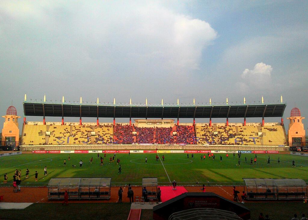 Sriwijaya FC vs PS TNI (Foto: Oris Riswan/Okezone)