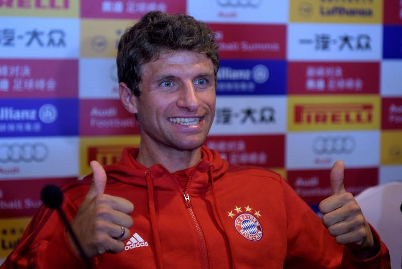 Muller takkan dijual ke Man United. (Foto: AFP/Johannes Eisele)