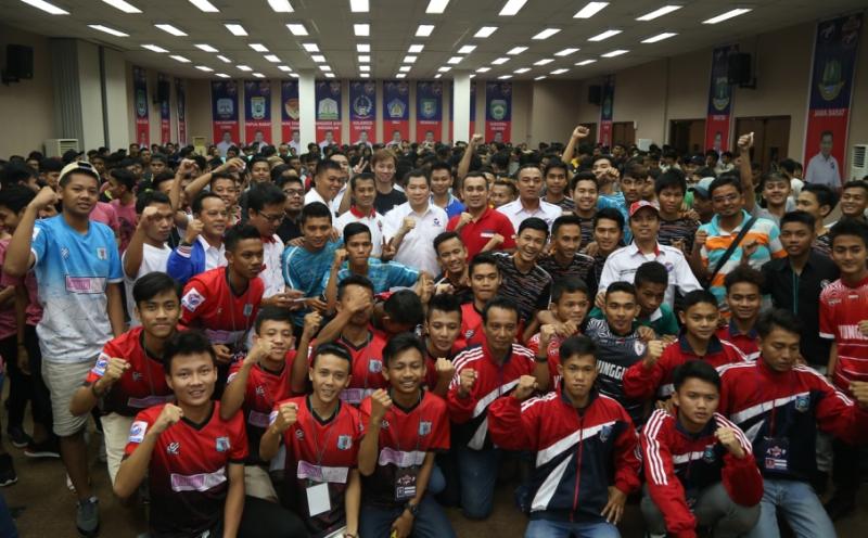 Hary Tanoe buka putaran final Liga Futsal Perindo 2016 (Foto: MNC Media)