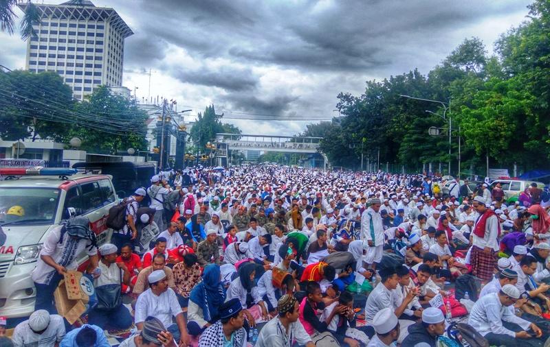 Diguyur Hujan, Massa Aksi Damai 212 Perlu Waspadai Penyakit Ini