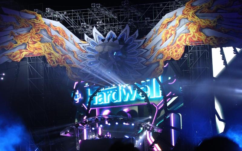 Penampilan DJ Hardwell (Foto: Raynaldi/Okezone)