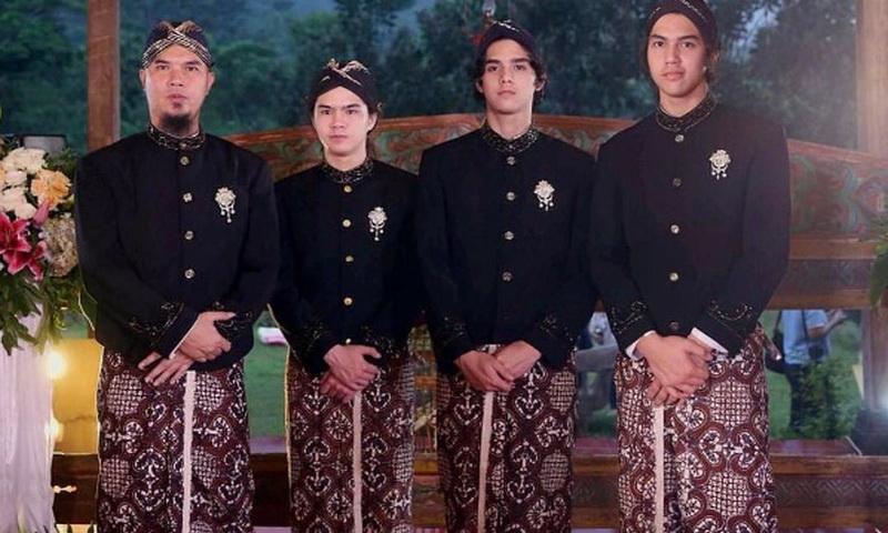 Ahmad Dhani, Dul, Al dan El (Foto: Instagram)