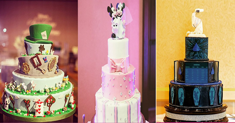 Cantiknya Kue-Kue Pernikahan ala Disneyland Ini