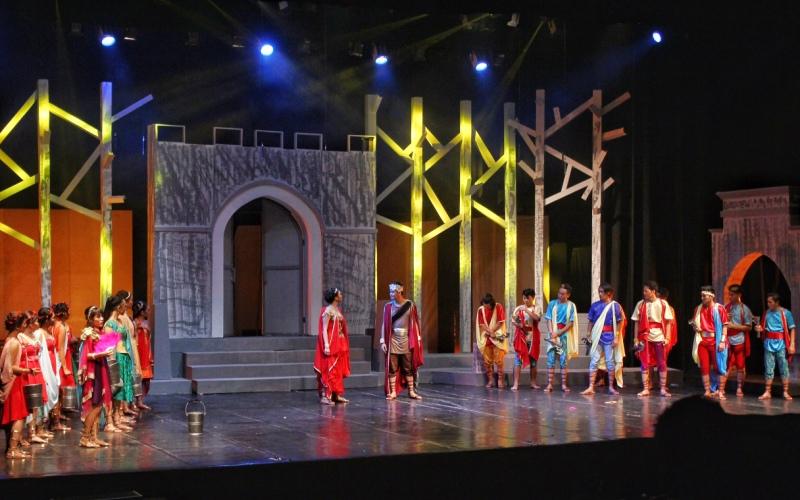 Teater Lysistrata (Foto: Raynaldi/Okezone)