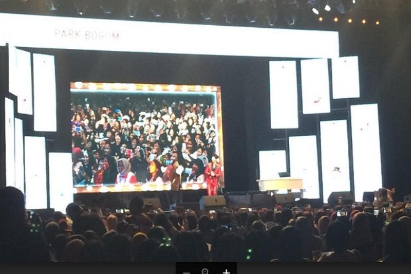 Jumpa Fans Park Bo Gum (Foto: Agregasi Sindonews.com)