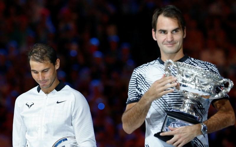 Rafael Nadal dan Roger Federer (Foto: Reuters)