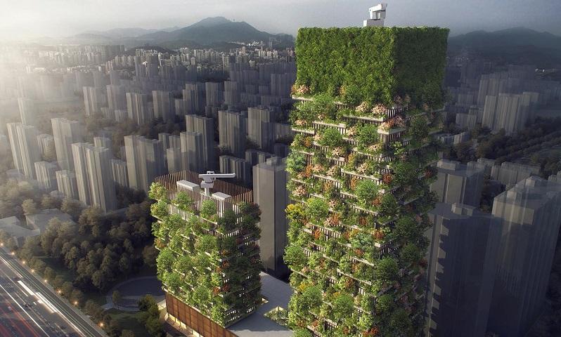 \China Segera Miliki Hutan Vertikal Pertama di Nanjing\