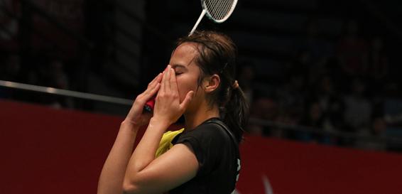 Hanna Ramadini yang memperkuat tim Mutiara Cardinal di Superliga Badminton (Foto: PBSI)