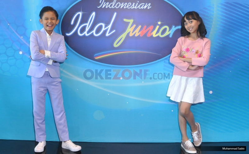 Navis dan Sharon Idol Junior (Foto: Okezone)