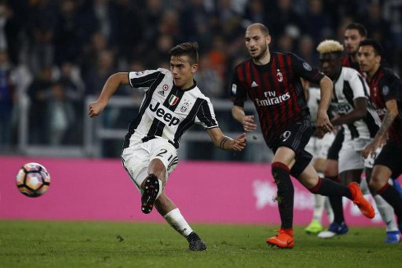 Dybala cetak gol penentu Juventus atas Milan. (Foto: AFP/Marco Bertorello)