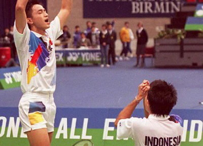 Ricky Subagja/Rexy Mainaky saat menjadi juara di All England 1996 (Foto: AFP)