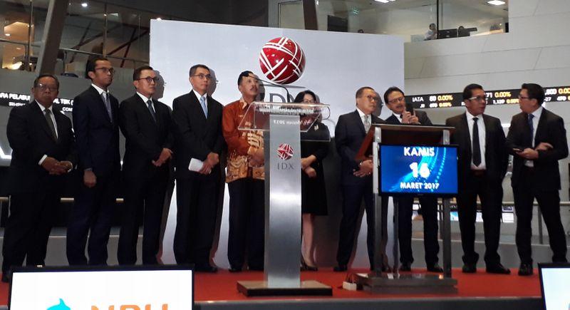 \Listing, Saham Nusantara Pelabuhan Meroket 19,6% ke Rp640/Saham\