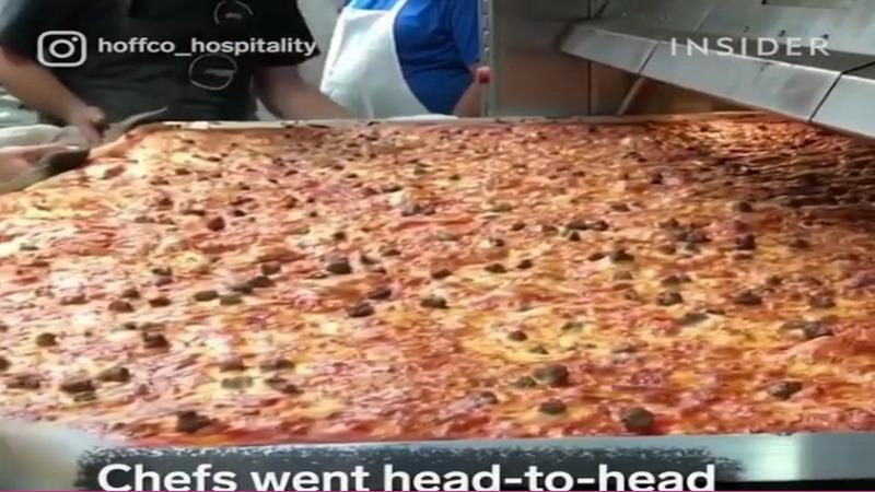 Keren, Galang Dana Perusahaan Ini Bikin Pizza Raksasa