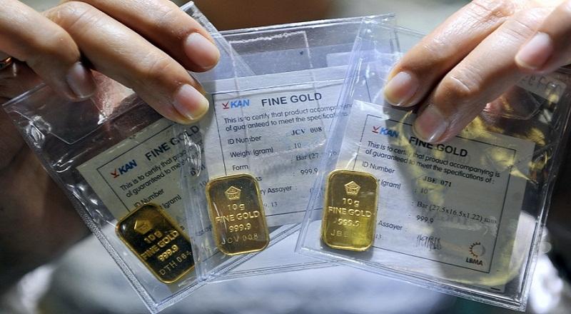 \Harga Emas Antam Dijual Rp594.000/Gram, Naik Rp2.000\