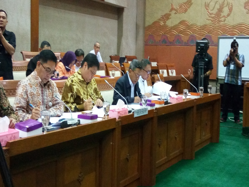 \Menperin Bahas APBN 2016-2017 di Komisi VI DPR\