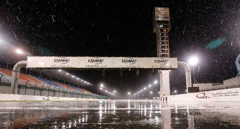 Sirkuit Losail, Qatar saat turun hujan (Foto: Laman resmi MotoGP)