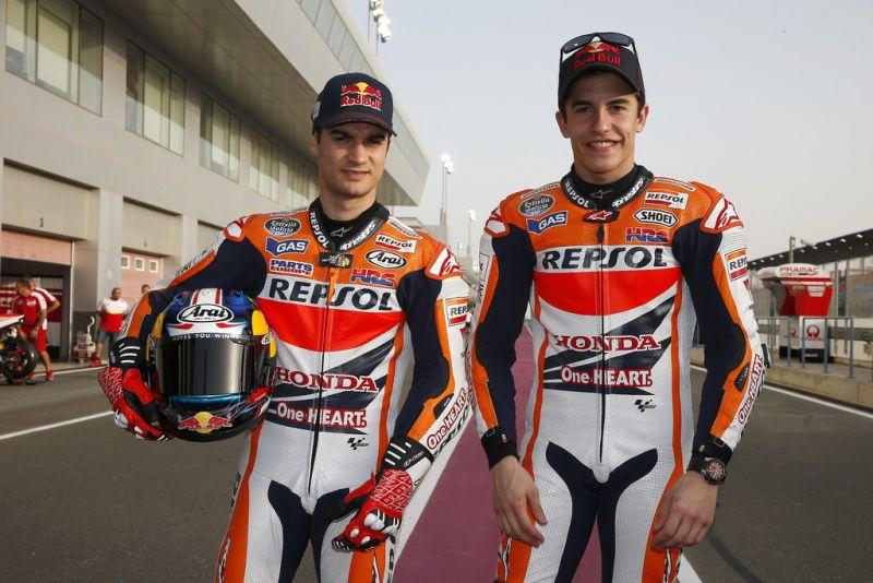 Dua pembalap Tim Repsol Honda, Dani Pedrosa (kiri) dan Marc Marquez (Foto: Flickr)