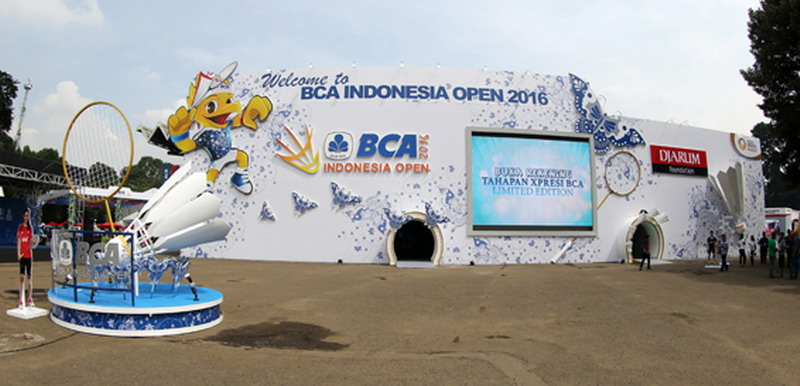 Suasana di luar lapangan Indonesia Open (Foto: PBSI)