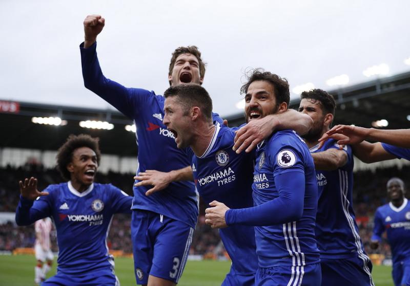 Chelsea saat mengalahkan Stoke City 2-1. (Foto: REUTERS/Phil Noble)