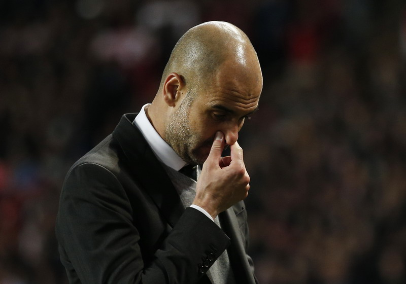 Guardiola ungkit kekalahan 1-3 Man City dari Monaco. (Foto: REUTERS/Andrew Couldridge)